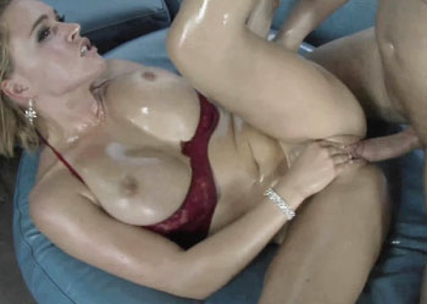Busty blonde Krissy gets her pussy pounded
