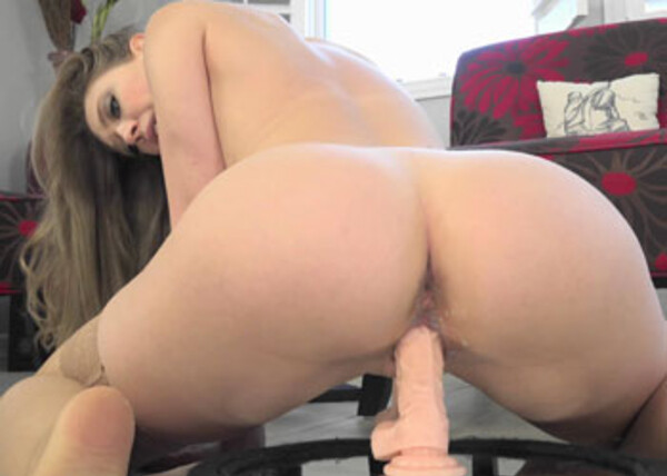Kagney Linn Karter's riding a huge dildo